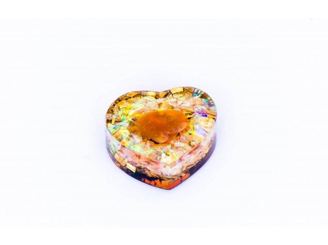 Orgonit srdíčko 30x10mm