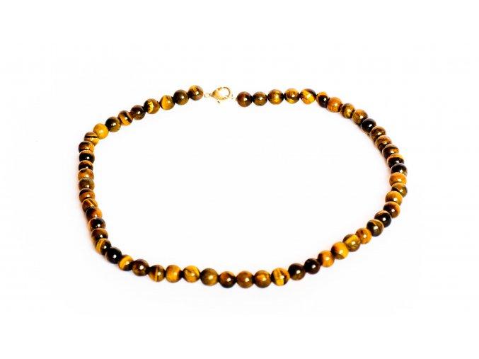 Tygří oko náhrdelník, 8mm
