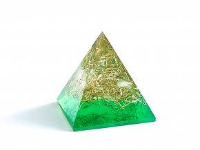 Orgonit pyramida zelená 30x30mm