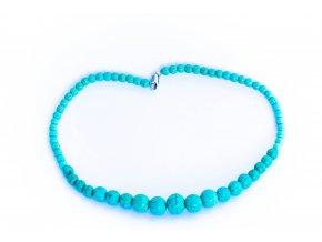 Tyrkys náhrdelník -velké kuličky