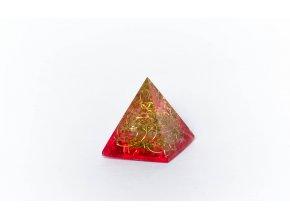 Orgonit pyramida červená 40x40mm
