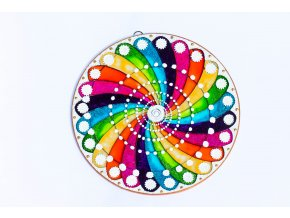 Mandala spirála energie 12cm / 20cm