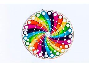 Mandala spirála energie průměr 12cm / 20cm