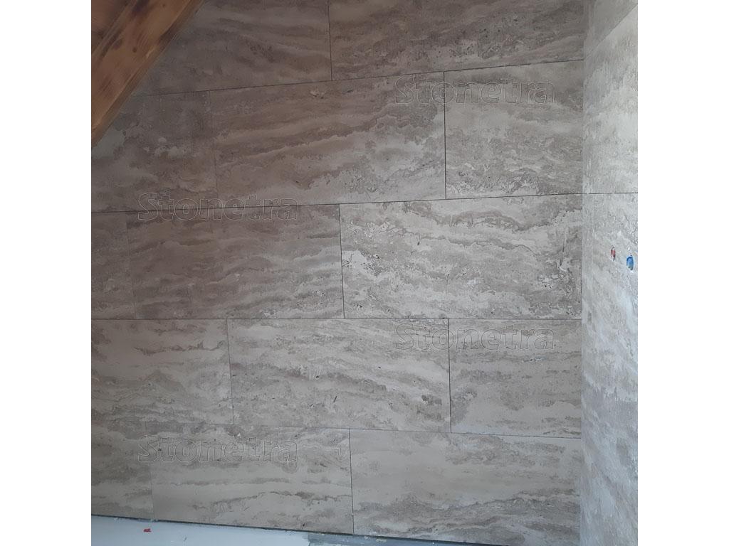 Travertin Mocca 81,2x40,6 VC tl. 1,2 cm neplnený