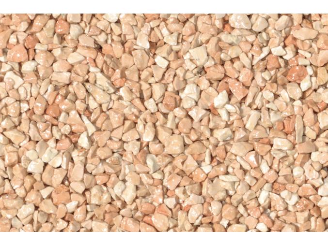 Rosa Corallo kámen + pryskyřice pro kamenný koberec