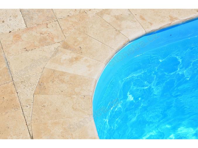 Bazénový lem travertín classic