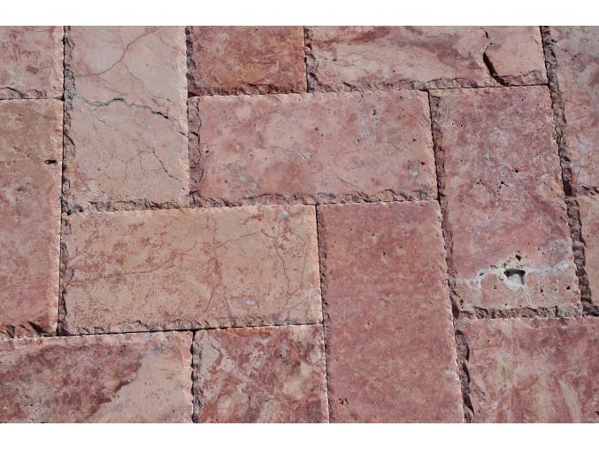 Travertin dlažba sekané hrany Red 30x15x3 cm