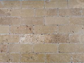Travertin Noce cihličky - 20,3 cm x 7,5 cm x 1 cm