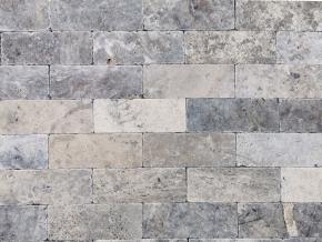 Travertin Silver cihličky - 20,3 cm x 7,5 cm x 1 cm