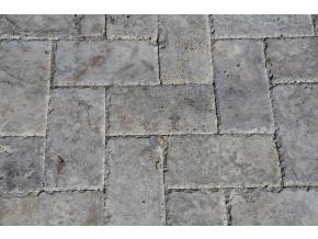 Travertin dlažba sekané hrany Silver 30x15x3 cm