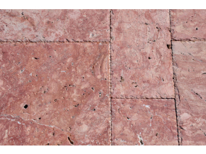 Travertin francúzsky vzor Red hr. 1, 2 cm