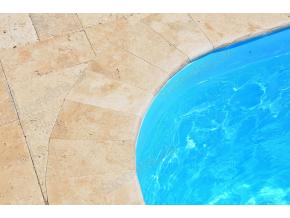 Bazénový lem travertín classic 80 x 25 x 3 cm