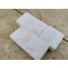 Mramorová dlažba kostka řezaná / štípaná bílá 6x6x4 cm