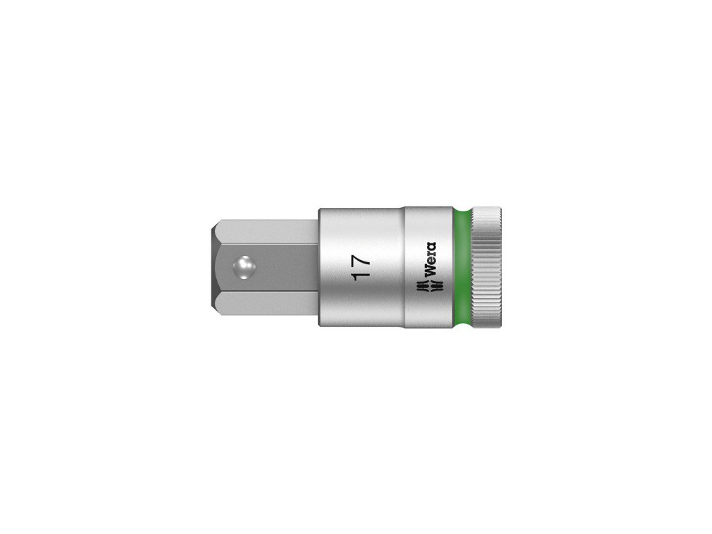 """8740 C HF Zyklop zástrčný nástavec, s přidržovací funkcí, upínací část 1/2"""" WERA"""