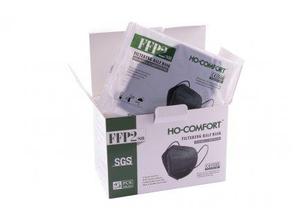 Maska respirační FFP2 černá 1ks