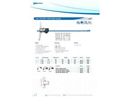 Digitální hloubkoměr s nosem HELIOS-PREISSER IP67 0-300mm