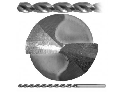 Vrták 02,75 - 190/130 DIN 1869/2RGT100HSSCo5 ZV3001