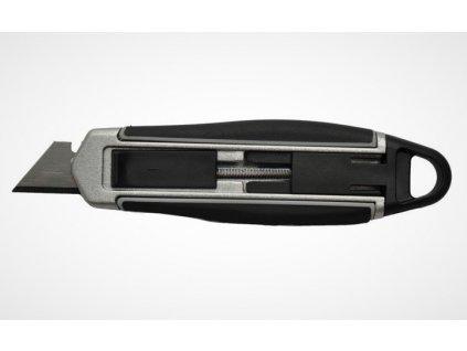 Nůž automatický s ergometrickou pogumovanou rukojetí, pro praváky a leváky