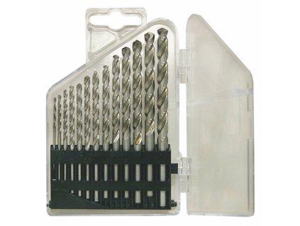 Sada vrtáků 13-ti dílná 1,50-6,50x0,5mm+3,30+4,20 DIN338RTiHSSCo8 Lesklá, plast