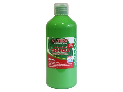 DM010178 01 Botella tempera escolar 500 ml. verde claro