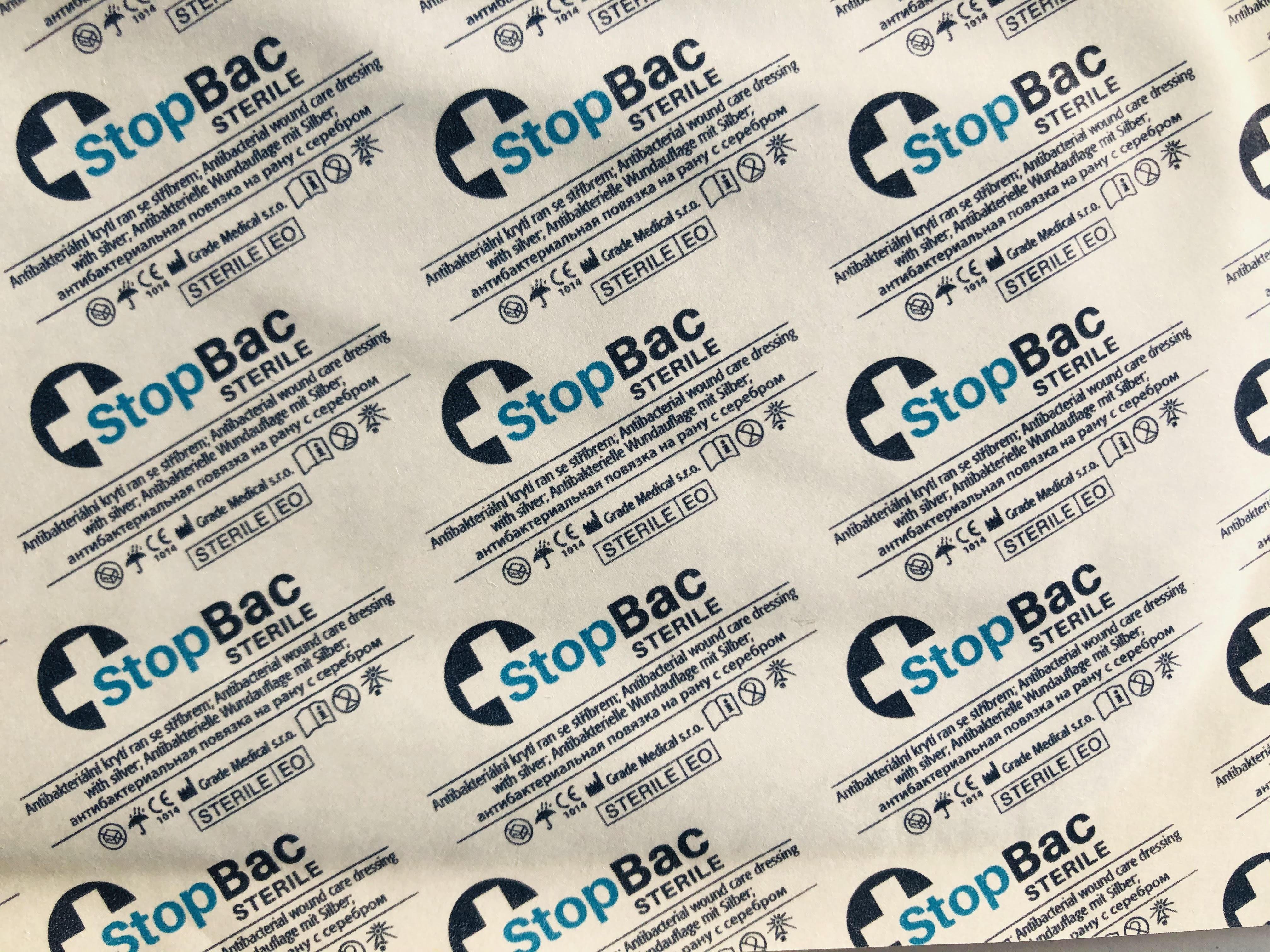Léčba a hojení ran s antibakteriálním krytím StopBac