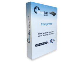 Velký Kompres StopBac 12x12 cm, Krytí na chronické rány StopBac Kompres , eshop StopBac dekubity