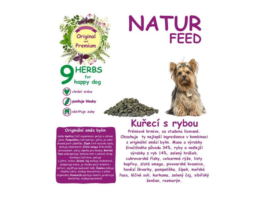 Natur feed Pes Kuřecí s rybou