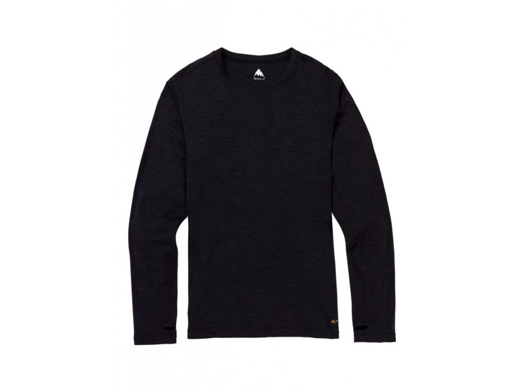 MB MDWT MERINO CREW TRUE BLACK HEATHER