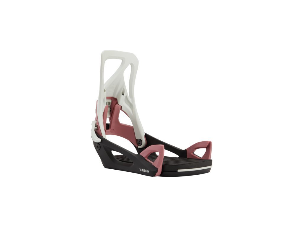 Dámské Snowboardové Vázání Burton Step On® Re:Flex Gray / Black / Rose (Velikost L)