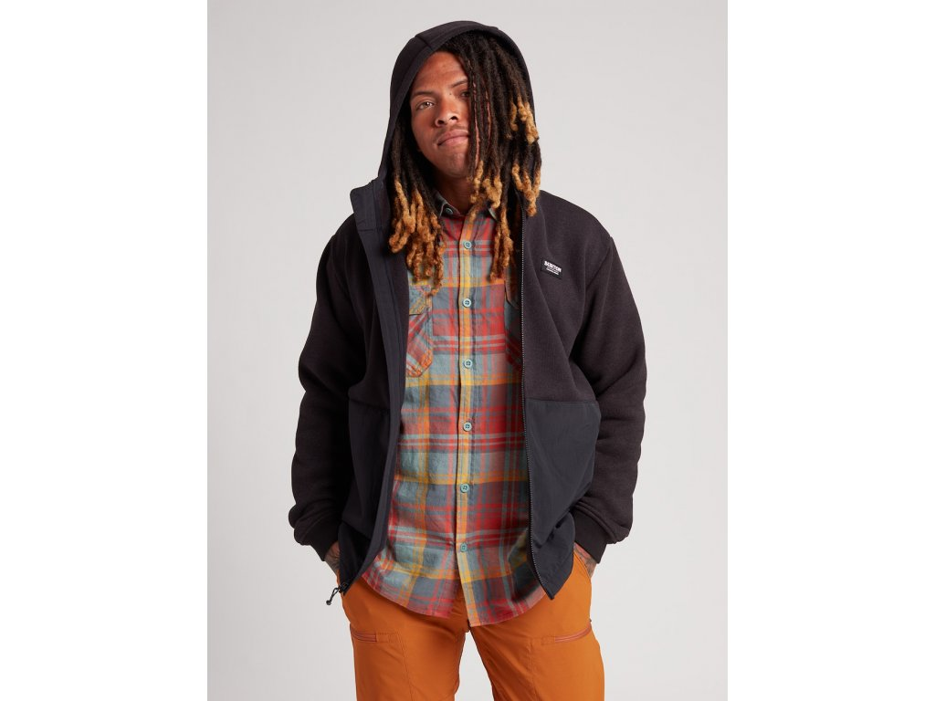 Pánská Mikina Burton Hayrider Sweater Fleece Hoodie
