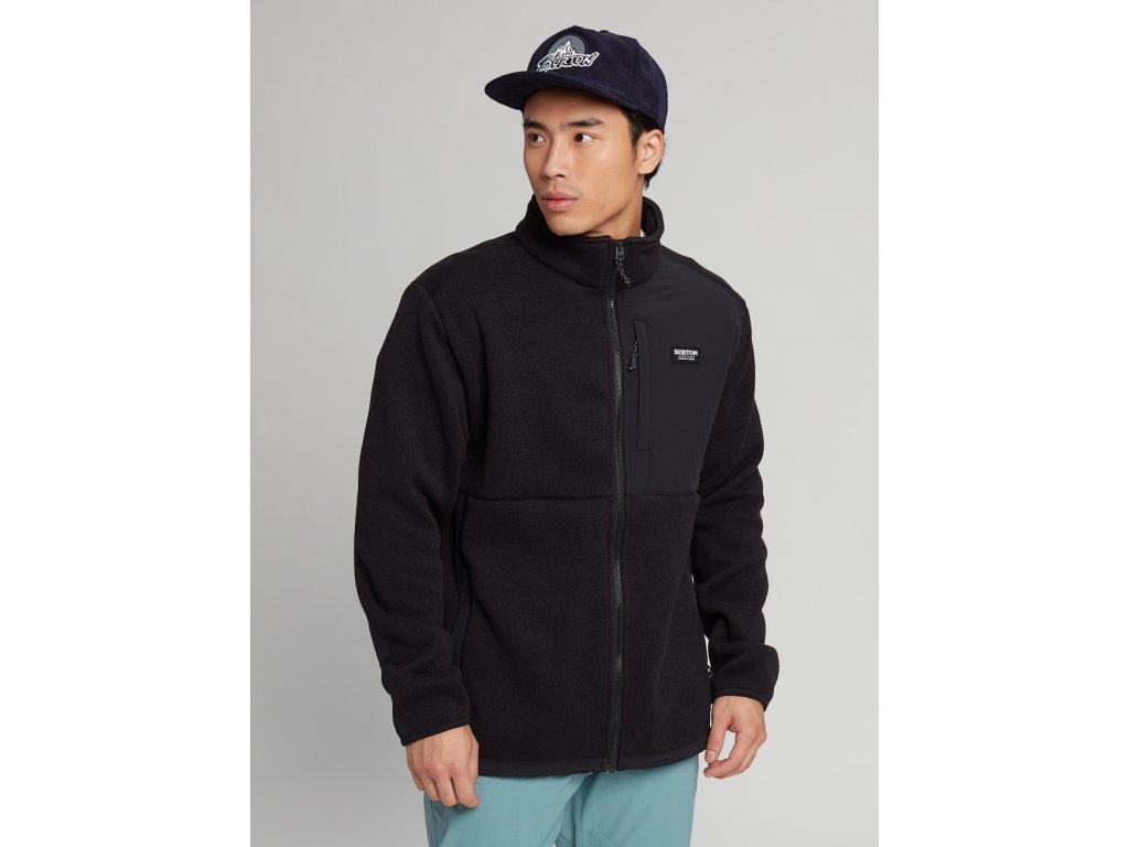 Pánská Mikina Burton Hayrider Sweater Full-Zip Fleece