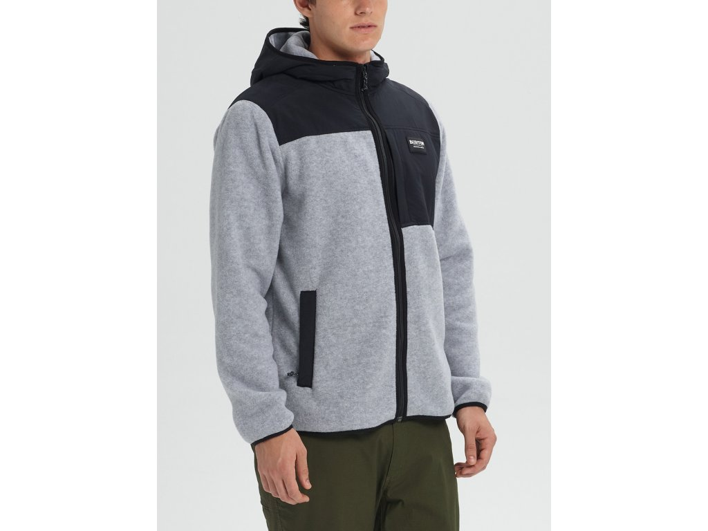 Pánská Mikina Burton Hearth Full-Zip Hooded Fleece