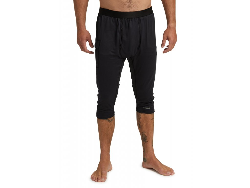 Pánské Termoprádlo Burton Midweight X Base Layer Three-Quarter Boot Pants True Black
