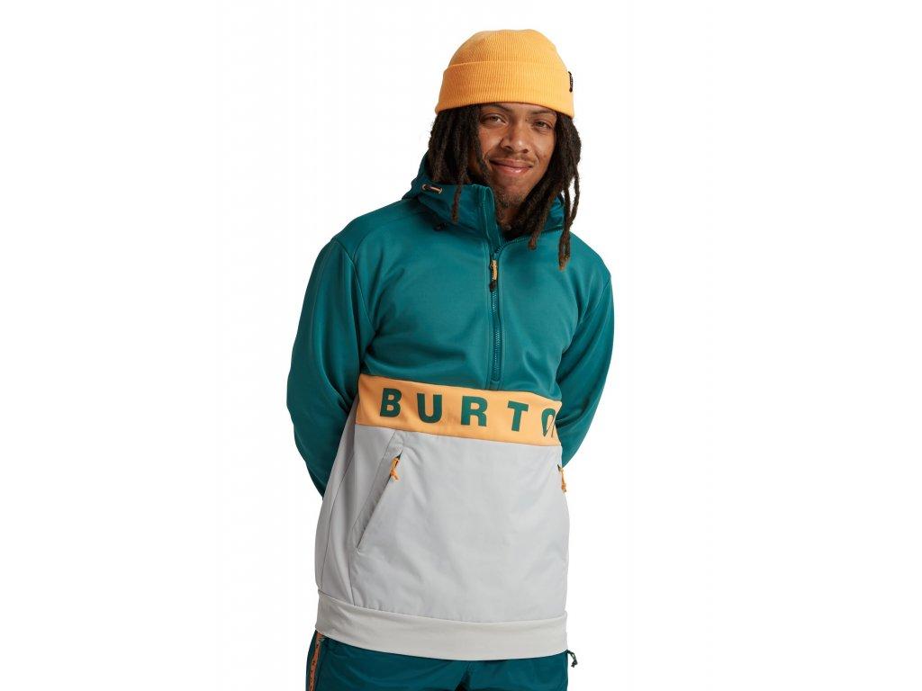 Pánská Mikina Burton M Crown Bonded Performance Fleece Pullover