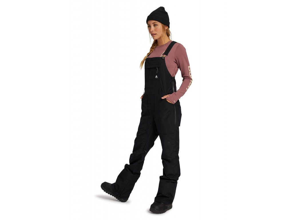 Dámské Lacláče Burton GORE-TEX Avalon Bib Pants True Black