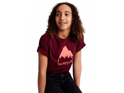 Dětské Tričko Burton Classic Mountain High Short Sleeve T-Shirt Mulled Berry