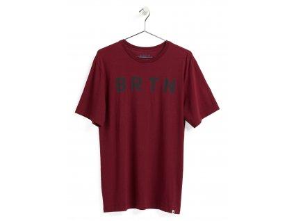 Pánské Tričko Burton BRTN Short Sleeve T-Shirt Mulled Berry