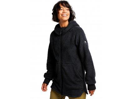 Dámská Mikina Burton Minxy Full-Zip Fleece True Black Sherpa