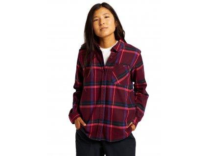 Dámská Košile Burton Grace Long Sleeve Flannel Mulled Berry Sparse Plaid