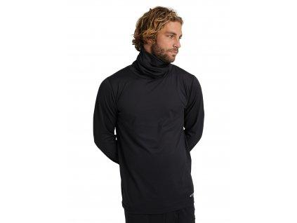 Pánské Termoprádlo Burton Midweight Base Layer Long Neck Shirt True Black