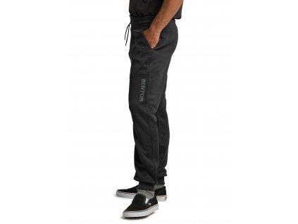 Pánské Tepláky Burton Oak Fleece Pants True Black Heather