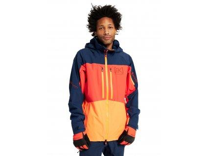 Pánská Bunda Burton [ak] GORE‑TEX Swash Jacket Dress Blue / Fiesta Red / Clownfish Orange
