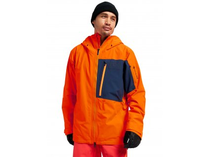 Pánská Bunda Burton [ak] GORE‑TEX Cyclic Jacket Clownfish Orange / Dress Blue