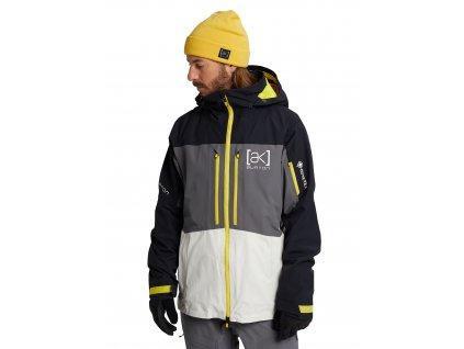 Pánská Bunda Burton [ak] GORE‑TEX Swash Jacket True Black / Castlerock / White
