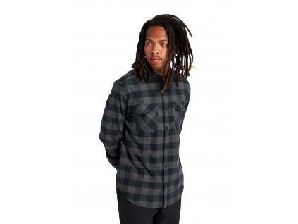 Pánská Košile Burton Brighton Flannel True Black Heather Buffalo Plaid