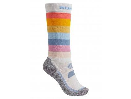 Dětské Ponožky Burton Performance Midweight Sock Stout White Rainbow Mashup