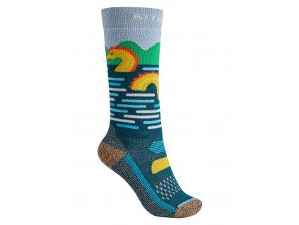 Dětské Ponožky Burton Performance Midweight Sock Sea Monster