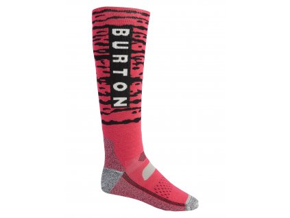 Pánské Ponožky Burton Performance Midweight Sock Punchy Pink