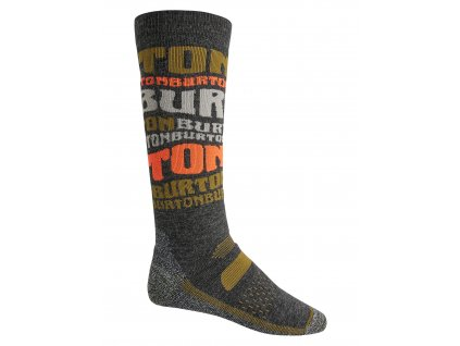 Pánské Ponožky Burton Performance Midweight Sock Type Stripe