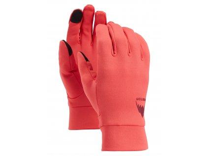 Pánské Rukavice Burton Screen Grab® Glove Liner Hibiscus Pink